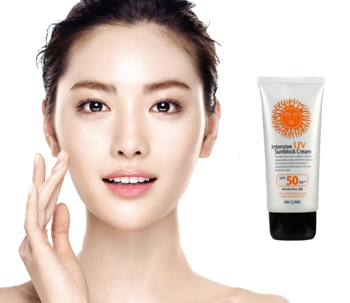Kem chống nắng 3W CLINIC Intensive UV Sunblock Cream SPF 50