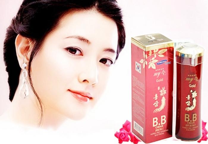 Kem Lót Nền Chống Nắng Sâm Đỏ B.B Cream Hồng sâm My Gold Hàn Quốc