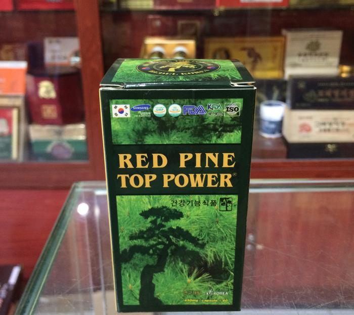 Viên tinh dầu thông đỏ Hàn Quốc Red pine top power 60 viên