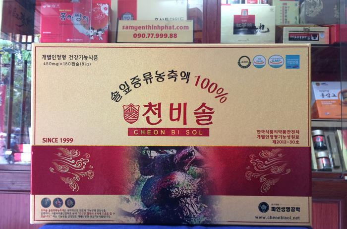 Viên tinh dầu thông cao cấp Cheon Bi Sol Hàn Quốc hộp 180 viên
