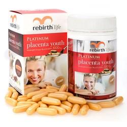 Nhau thai cừu Rebirth Platinum Placenta Youth 60 viên - Lanopearl 3000mg