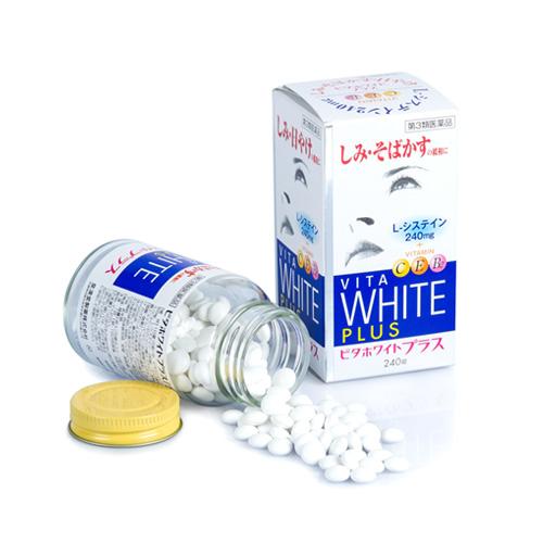 VITA WHITE PLUS C.E.B2 -Viên Uống Trị Nám, Tàn Nhang Làm Trắng Da Của Nhật Bản