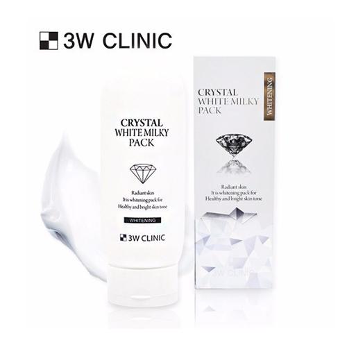 Kem Dưỡng Trắng Da Body Toàn Thân Crystal White Milky Pack 3W Clinic Hàn Quốc
