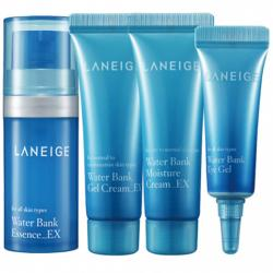 Set dưỡng mini cung cấp nước Laneige water bank trial kit (4 item)