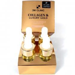 Serum dưỡng trắng mịn da, chống nhăn 3W Clinic Collagen & Luxury Gold