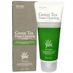 Sữa rửa mặt trà xanh Green Tea Foam Cleansing 3W Clinic