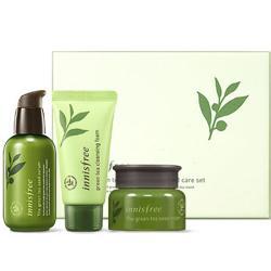 Bộ dưỡng trắng da phục hồi innisfree Green tea Seed serum special care 3 set
